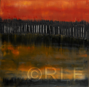 Abstract Oil Painting by RLF